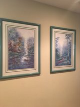 2 Prints framed and matted under glass in Vacaville, California