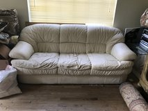 White leather  couch and love seat in El Paso, Texas