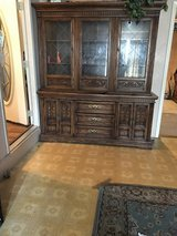 Solid wood china cabinet in El Paso, Texas