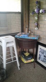 Weather-proof Wicker Bar Table - Doubles as Ice Chest in Baytown, Texas