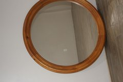 Round Wooden Mirror in Kingwood, Texas