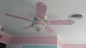 Girls Annabelle Hearts and Butterflies Ceiling Fan by Hunter in Vacaville, California