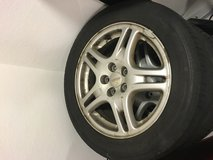 OEM wheels off 2002 wrx and all season tires in Ramstein, Germany