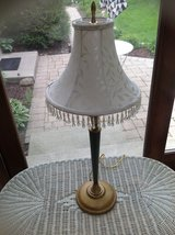 Lamp, soft green and gold in Glendale Heights, Illinois