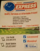 Alamo Express lawn care and landscaping in Alamogordo, New Mexico