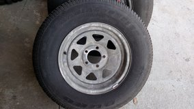 Set Of 2 Trailer Wheels And Tires 205/65/14 in Camp Lejeune, North Carolina