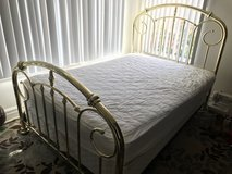 Full size bed frame with  mattress in Vista, California