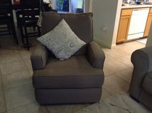 Nursery Rocking Swivel Stuffed Chair with Foot Rest Gray in Pearl Harbor, Hawaii