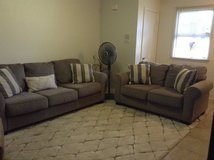 Two pieces Sofa Set and cushions Gray in Pearl Harbor, Hawaii