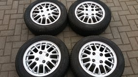 4 x summer tires UNIROYAL 195/60 R15 on alloy wheels Mitsubishi Carisma  like new in Ramstein, Germany
