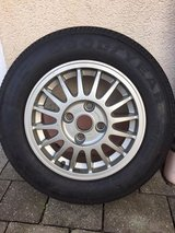 Goodyear 175/70/14 tire on an Audi rim in Ansbach, Germany