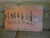 African figures picture in Lakenheath, UK