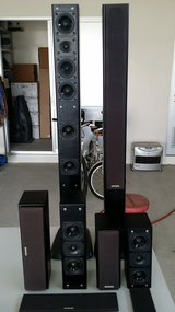 Kenwood Limited Edition Home Speaker System 6-pc LS-9070, CS-7070, RS-7070. in Okinawa, Japan