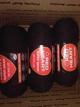 New yarn - Red Heart Super Saver - black - $2 each. in Yucca Valley, California