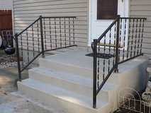 Black steel  railings in Bartlett, Illinois