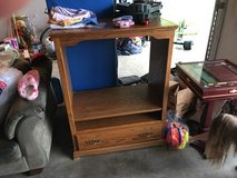 Solid Wood Entertainment Center Must Sale in Fort Leonard Wood, Missouri