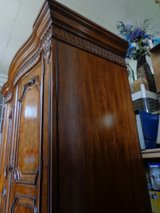 Burled Walnut TV Armoire Cabinet in Glendale Heights, Illinois