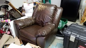 Free brown leather recliner in Kingwood, Texas