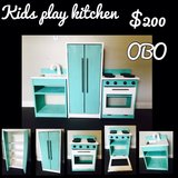KIDS WOODEN PLAY KITCHEN in Camp Pendleton, California