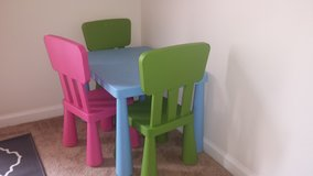 Ikea Kids Table and Chairs in Fort Belvoir, Virginia