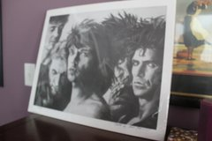 Bradford John Salamon print of Rolling Stones dated 1995 in Montezuma, Georgia