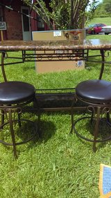 Bar w/2 Leather stools in Madisonville, Kentucky