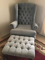 Queen Anne wing back chairs  and ottoman in Columbus, Georgia