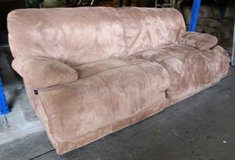 Dark Beige Dual Recliner Couch in Ramstein, Germany