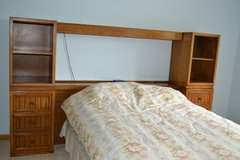 Bedroom set  with built in shelves and drawers - Full or Queen in Naperville, Illinois