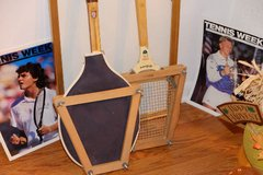 2 Wooden tennis rackets in frames in Bolingbrook, Illinois