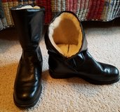Black Leather Winter Boots in Lockport, Illinois