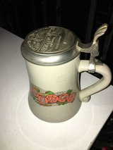 Beer mug with tin cap Brauerei Bischoff 0,5l in Ramstein, Germany