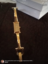 Gold plated Gucci watch in Columbus, Georgia