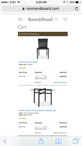Room and Board Dining Table and Chairs in Plainfield, Illinois