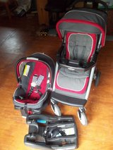 Red/Gray/Black Carseat and Stroller Combo in Fort Polk, Louisiana