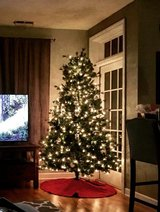 Pre-Lit Spruce Christmas Tree 7.5 ft in Great Lakes, Illinois