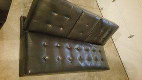 $330 Target Faux leather futon convertible in Naperville, Illinois