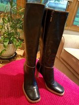 BCBG Black leather tall boots in Naperville, Illinois