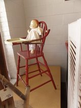 Vintage child's highchair (doll sold) in Cherry Point, North Carolina