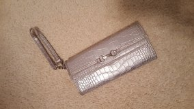 Nine West Silver Clutch Wallet Purse in Naperville, Illinois