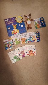 Baby Einstein Set of 9 books and plush dog in Naperville, Illinois