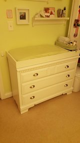 White Diaper Changing Table Dresser Top in Yorkville, Illinois