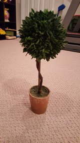 Faux Plastic Topiary Tree in St. Charles, Illinois