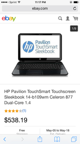 Hp touch screen 14- b109wm in Naperville, Illinois