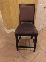 2 Brown faux suede counter height stools in Naperville, Illinois