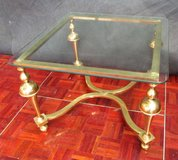 Solid Brass End or Coffee Table 1 cm thick Glass in Ramstein, Germany