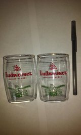 "Budweiser pair of Beer Glasses 3""H x 2""W in Elgin, Illinois"