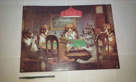 Dogs Playing Poker metal sign wall art in Bartlett, Illinois