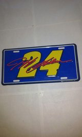 Nascar Jeff Gordon License Plate 24 in Elgin, Illinois