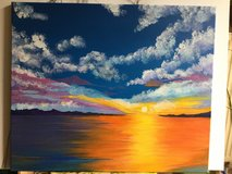 Sunset acrylic on canvas in Ramstein, Germany